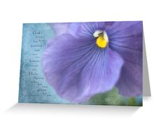 Pansy Macro Greeting Card