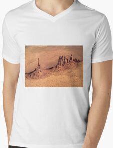 Aerial of Totem Pole Mens V-Neck T-Shirt