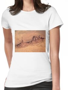 Aerial of Totem Pole Womens Fitted T-Shirt