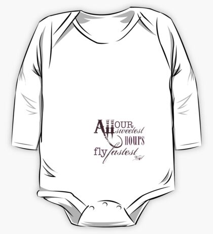 Our Sweetest Hours One Piece - Long Sleeve