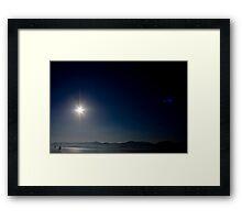 Leaving The Menai Straits Framed Print