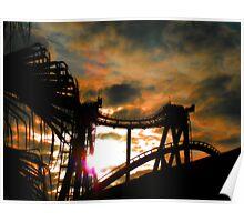 Sunset Coaster Poster