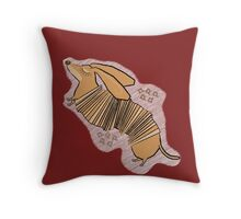 Dachsaccordian Throw Pillow