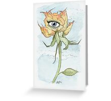 drEyed Rose Greeting Card