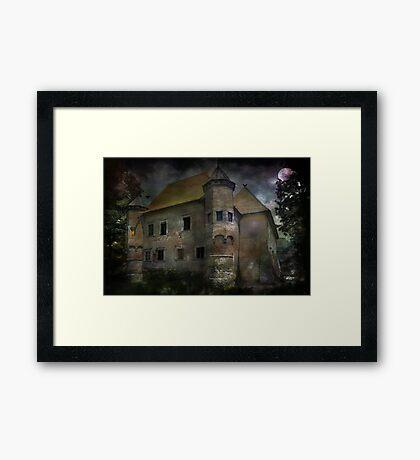 Castle in Dębno .... Framed Print