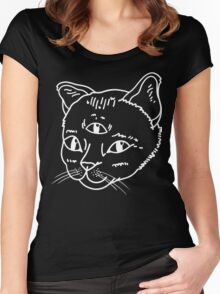 Three-Eyed Cat Women's Fitted Scoop T-Shirt