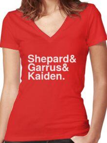 Mass Effect Names - 3 Women's Fitted V-Neck T-Shirt