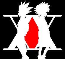 Hunter X Hunter Gon Killua Logo Anime Cosplay Japan T Shirt  by zombiehorde