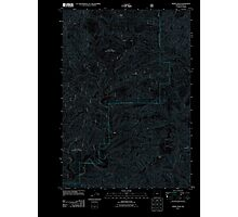 USGS Topo Map Oregon Windy Peak 20110817 TM Inverted Photographic Print