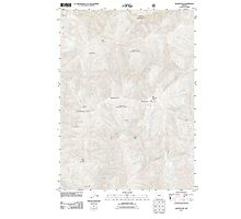 USGS Topo Map Oregon Silver Peak 20110713 TM Photographic Print