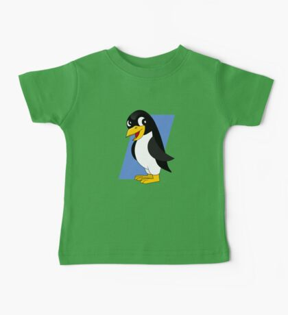 Cute penguin cartoon Baby Tee
