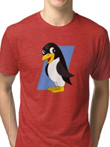 Cute penguin cartoon Tri-blend T-Shirt