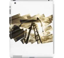 Oil rig abstract background. iPad Case/Skin