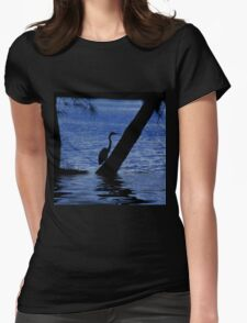 Egret Reflection Womens Fitted T-Shirt