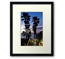 leucadia sunset 2 Framed Print