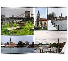 A collage of All Saints Marlow Poster