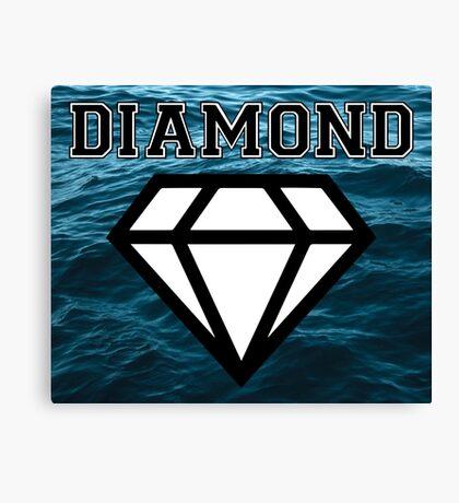 Diamond poster stormy sea  Canvas Print