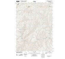 USGS Topo Map Oregon Bunker Creek 20110831 TM Photographic Print