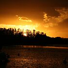 Ohmas Bay Sunset at Tuncurry by aussiebushstick