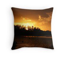 Ohmas Bay Sunset at Tuncurry Throw Pillow