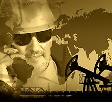 Oil and gas industry background. by bashta