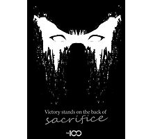 Victory stands on the back of sacrifice Photographic Print