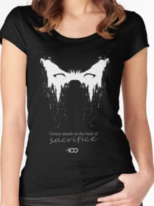 Victory stands on the back of sacrifice Women's Fitted Scoop T-Shirt