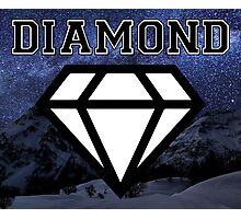 Diamond poster Snow and Stars  Photographic Print