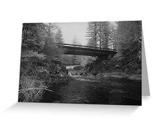 Bridge Over Dougan Falls Greeting Card