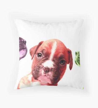 pastille pups Throw Pillow