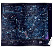 USGS Topo Map Washington Walla Walla 244505 1958 250000 Inverted Poster