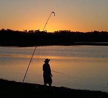 Fishing at Sundown, Lake Boondooma, QLD by aussiebushstick