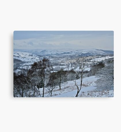 The Suprise View in winter Canvas Print