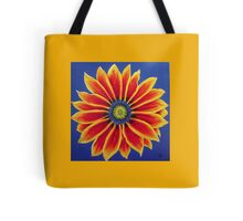 Gazania on Yellow  by Heather Holland Tote Bag