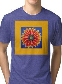 Gazania on Yellow  by Heather Holland Tri-blend T-Shirt