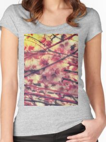 Blossom pattern Women's Fitted Scoop T-Shirt