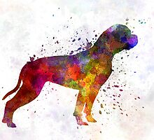 American Bulldog 01 in watercolor by paulrommer