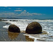 Moeraki Boulders - New Zealand South Island Photographic Print