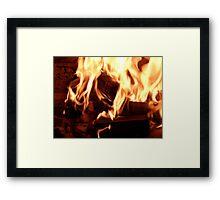 Open Fireplace Framed Print
