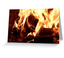 Open Fireplace Greeting Card