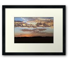 Sunset skies Framed Print