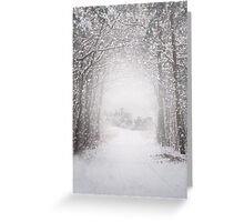 Castle in the snow Greeting Card