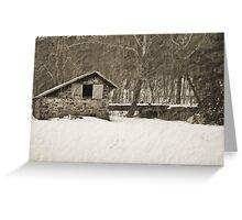Winter Barn Greeting Card