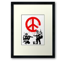 Banksy - Soldiers Painting Peace (CND Soldiers) Framed Print