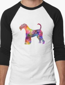 Airedale Terrier 01 in watercolor Men's Baseball ¾ T-Shirt