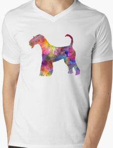 Airedale Terrier 01 in watercolor Mens V-Neck T-Shirt