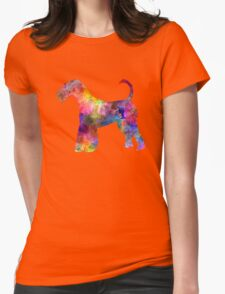 Airedale Terrier 01 in watercolor Womens Fitted T-Shirt