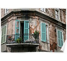 New Orleans : French Quarter Balcony Poster