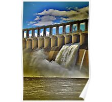 Hume Weir Wall. Poster
