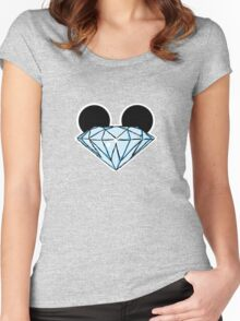Diamond Ears Color Women's Fitted Scoop T-Shirt